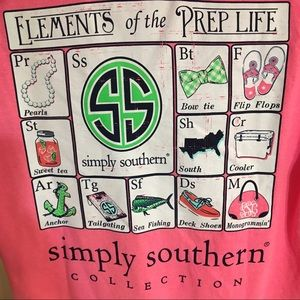 New Simply southern pink short sleeve t shirt M